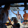 Sarah, Boo, Elias and Forrest - crew of s/v Stepping Stone