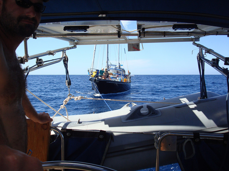 towing s/v Peregrine into port