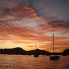 sunset in the anchorage at Cabo San Lucas