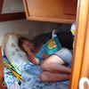 Kristin studying Spanish