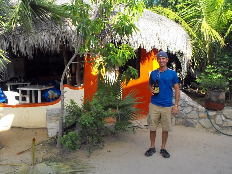 Luke outside the palapa bar