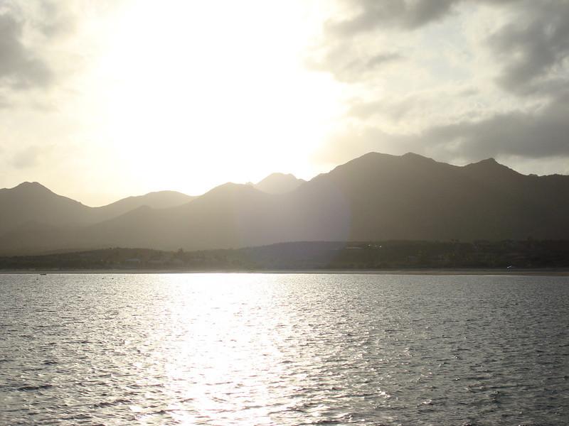 sun setting over the Baja peninsula