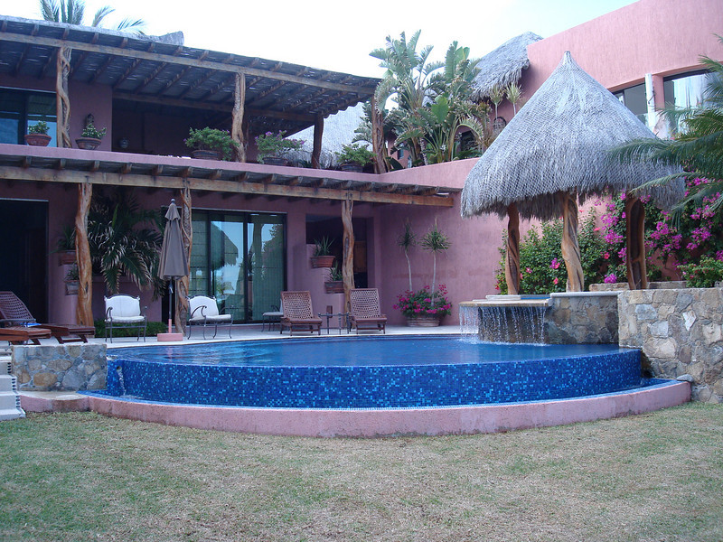 """one of the """"private"""" pools at Casa de Suenos"""