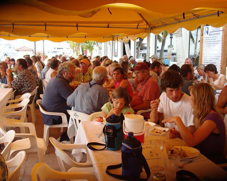 thanksgiving dinner at Marina Palmira