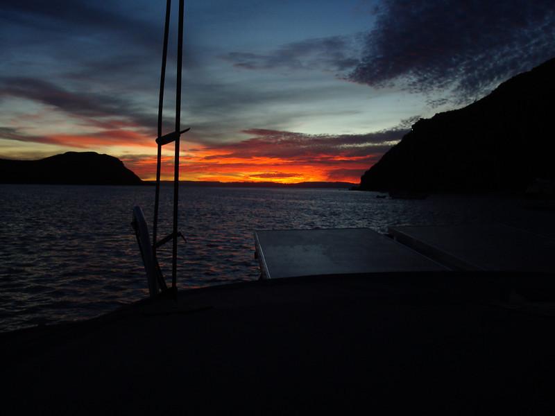 sunset at Caleta Partida