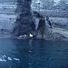 sea caves on the east side of Ispiritu Santo