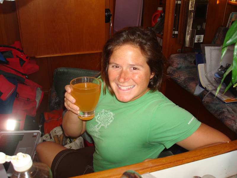 Christy's homemade hard apple cider. Yum.