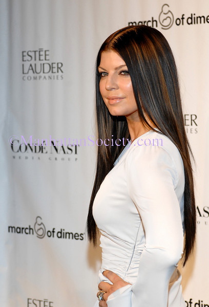 NEW YORK-MARCH 12: Fergie attends 34th Annual March of Dimes® Beauty Ball® at Cipriani 42nd Street, 110 East 42nd Street, New York City, NY on Thursday, March 12, 2009  (Photo Credit: Christopher London/ManhattanSociety.com)