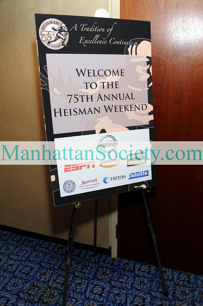 NEW YORK-DECEMBER 11: 75th Annual Heisman Memorial Trophy Award Press Conference on Friday, December 11, 2009 at The New York Marriott Marquis in Times Square, (1535 Broadway at 45th Street), New York City, NY (PHOTO CREDIT:  ©Manhattan Society.com 2009 by Christopher London)