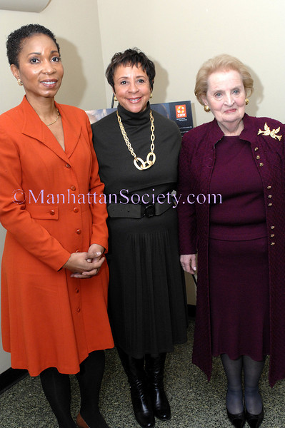 "NEW YORK-MARCH 5:  Dr. Helene Gayle, Sheila C. Johnson, Madeline Albright attend   ""A Powerful Noise"" Live at the Kaye Playhouse at Hunter College, East 68th Street between Park & Lexington Avenues, New York City, NY on Thursday, March 5, 2009 (Photo Credit: Christopher London/ManhattanSociety.com)"