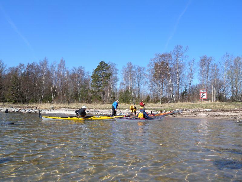 Nu är vi på väg från Bromskär foto Anita