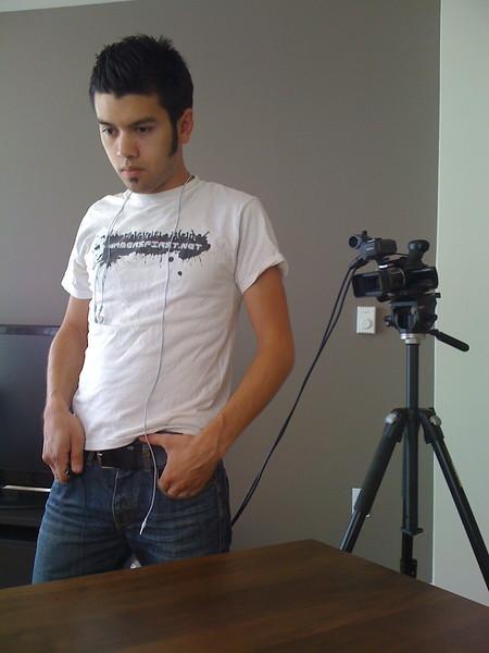 <b>Chris filming Picwing</b> <br>San Francisco, CA <br>July 24, 2009