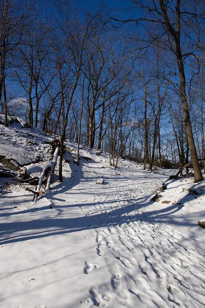 Appalachian Trail, under snow