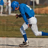 Diamond steal: Rockville's Tyler Bradburn bolts from first base with hopes to steal as the North Putnam pitcher releases the ball Thursday in Rockville.