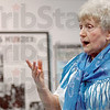 C.A.N.D.L.E.S.: Eva Kor speaks during a ceremony at the Holocaust Museum Friday afternoon.