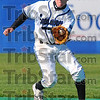 Good glove: ISU shortstop Ben Ferrell fields a first inning ground ball in action against Bradley Saturday afternoon.