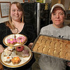 Tribune-Star/Joseph C. Garza<br /> Canine cuisine: ÒLove of Dogs Ñ a Dog BakeryÓ CO-owners Michelle Eldred and Tommie Cain show off some of the goodies that they have baked at their business Friday.