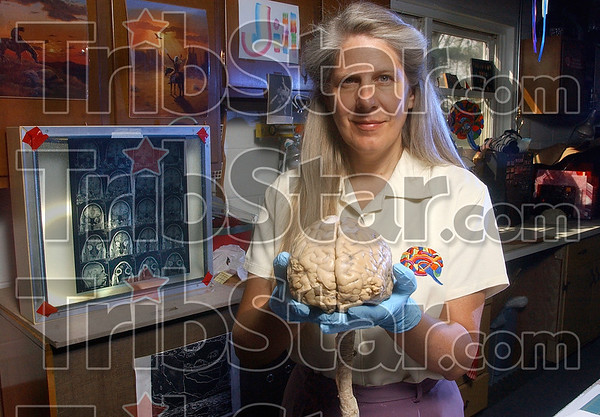 Tribune-Star file photo/Joseph C. Garza<br /> Influential: Terre Haute native Jill Bolte Taylor was named to the Time magazine list of the WorldÕs 100 Most Influential People. The 48-year-old 1977 graduate of Terre Haute South Vigo High School now teaches neuroanatomy for the Bloomington Medical Sciences program at the Indiana University School of Medicine.