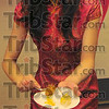 Taste of the Orient: Ting Yu of the People's Republic of China dishes a plate of traditional spicy food.