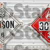Tribune-Star/Joseph C. Garza<br /> Poisonous and flammable: These two signs were on the truck the Environmental Protection Agency was using to transport the chemicals found at Wabash Environmental Technologies Tuesday.