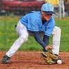 Sure thing: Shakamak second baseman Tyler Sparks gloves a ground ball.