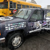 Tribune-Star/Joseph C. Garza<br /> Attention grabbing: John Shinsky uses a colorful SUV to advertise the orphanage founded by him and his wife in Mexico.