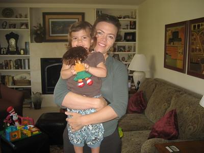 Anna Holding Mia Holding Baby Dora