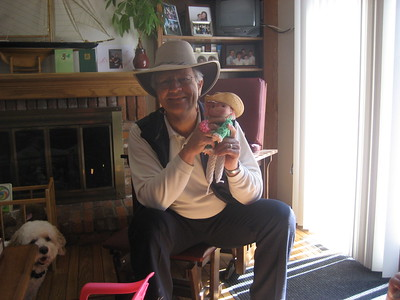 Papa Ben and Pinkie with Cowboy Hats