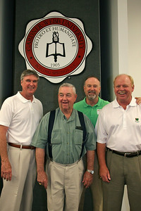 A reunion of Coach Bryson and many of his former baseball players during his time at Gardner-Webb University; April 25, 2009.
