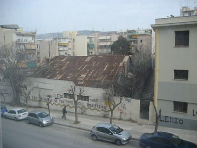 Athens from Hotel Room