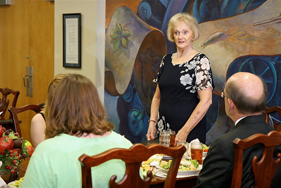 Luncheon with Dr. Bonner in Bailey Dining Hall; August 12, 2009.