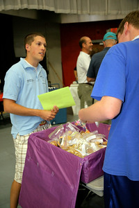 Freshmen participated in various service projects during orientation week; August 18, 2009.