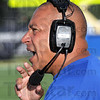 Coach: Indiana State coach Trent Miles calls a play on the sideline during Thurday's Blue/White scrimmage.