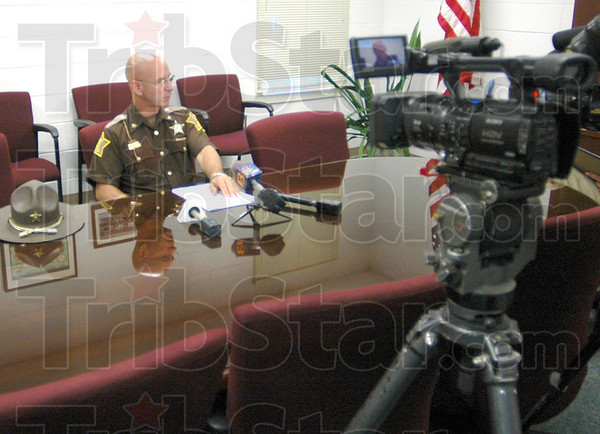 New conference: Greene Co. Sheriff Terry Pierce answers questions for news media about the shooting death of Travis Bohannon during an afternoon news conference at the jail.