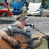 Songs of the past: Junior Grayless sings during the 12 Points ice cream social Saturday afternoon. The Terre Haute Corvette Club had ten cars on display during the event.