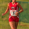 Tribune-Star/Joseph C. Garza<br /> On course: Terre Haute South's Jen Samson stays in the front half of the pack as she competes in the girls 5-kilometer run of the Braves cross country invitational Saturday at the Lavern Gibson course.