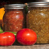 Tribune-Star/Joseph C. Garza<br /> From garden to jar to delicious: Angela Cripe cans much of what she grows in her Dennison, Ill., garden.