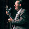 The report: Bob Zany launches into his Zany Report during his time onstage Friday night.