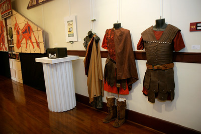 Theater pieces on display in the Communications Studies Hall; August 27, 2009.