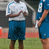 Tribune-Star/Joseph C. Garza<br /> Last day of camp: Indianapolis Colts head coach Jim Caldwell and quarterback Peyton Manning talk before the last practice Wednesday at Rose-Hulman.