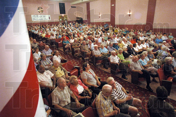 Standing room only: The Harmony hall was filled to capacity Monday evening during a concert honoring Claude Thornhill.