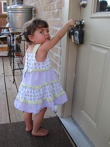 Mia Caught Picking the Lock