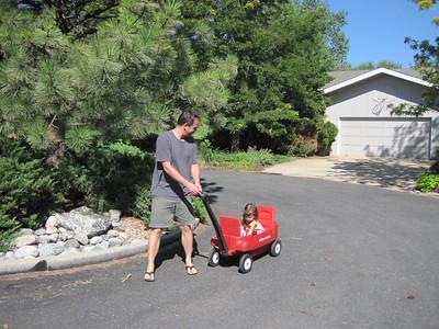Wagon Ride for Mia on Briarwood Cul de Sac