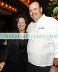 NEW YORK-SEPTEMBER 15: Marcia Stein, Charlie Palmer attend Aureole Grand Opening Cocktail Party to Benefit Citymeals-on-Wheels on Tuesday, September 15, 2009 at the new Aureole at One Bryant Park, 135 West 42nd Street (between 6th Ave and Broadway) New York City, NY.  (Photo Credit: ©Manhattan Society.com 2009 by Gregory Partanio)