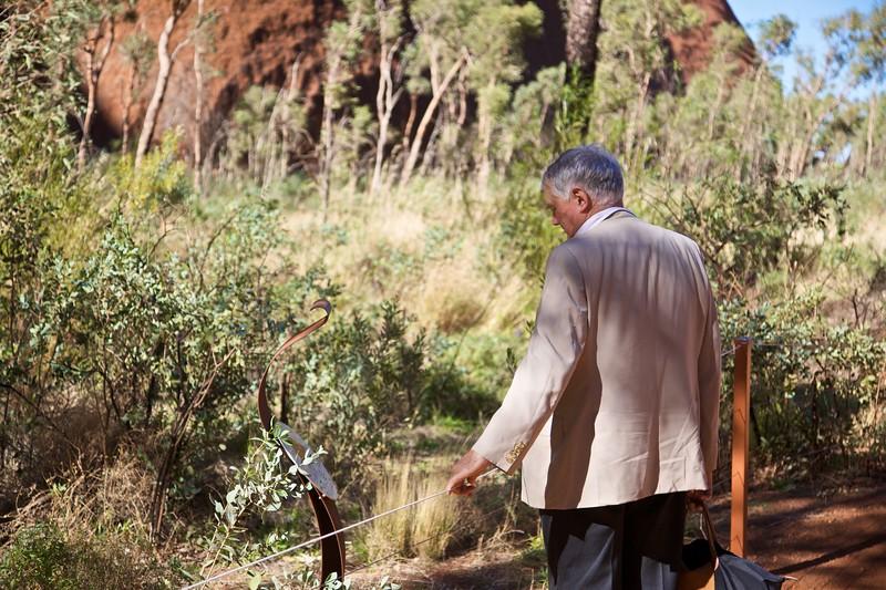 On the path to the Mutitjulu waterhole at Ayers'Rock.