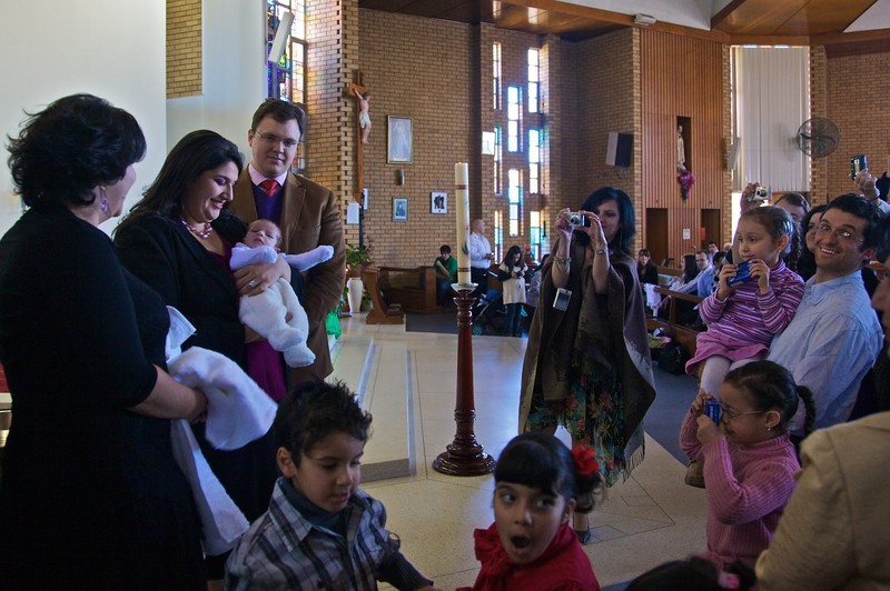 After the baptism of Christopher Flynn.
