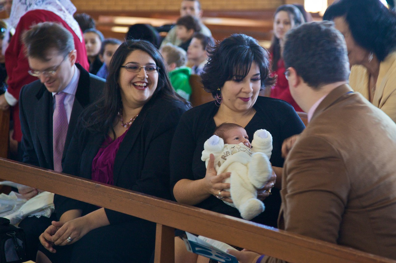 Before the baptism of Christopher Flynn.