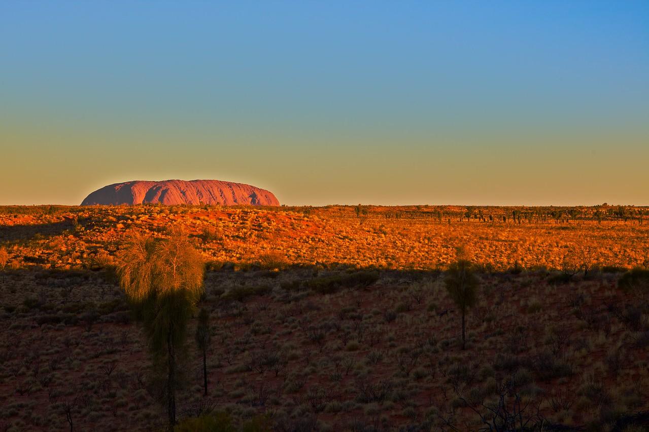 Ayers'Rock at sunset.