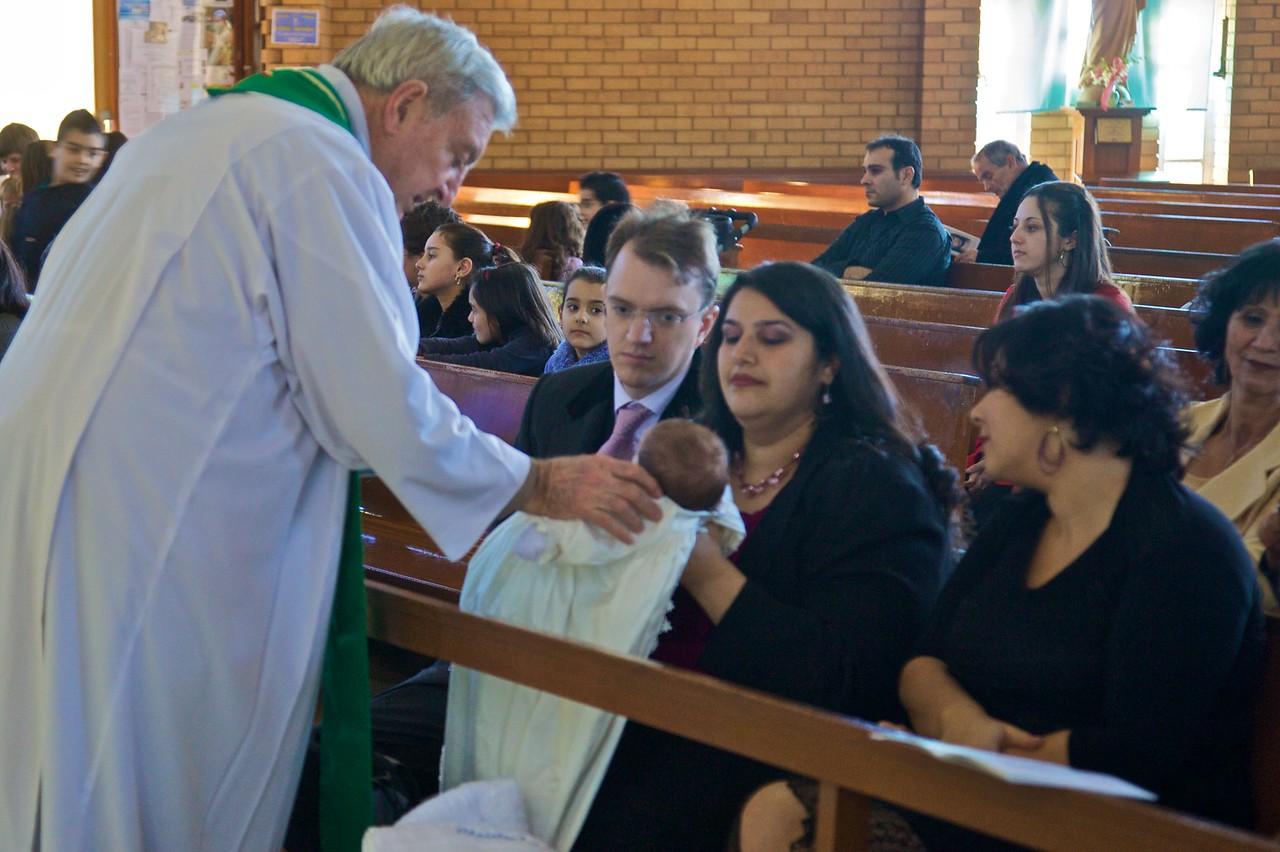 After the baptism of Christopher Flynn.