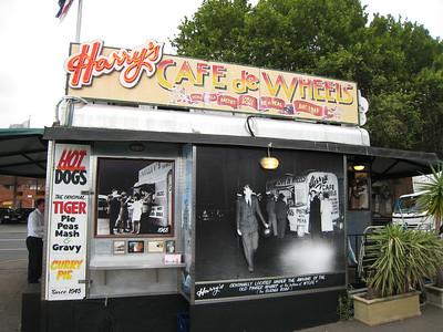 Harry's Cafe de Wheels.  Famous for its meat pies.